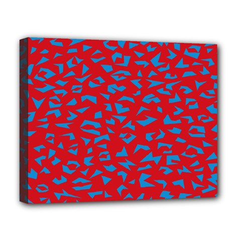 Blue Red Space Galaxy Deluxe Canvas 20  X 16