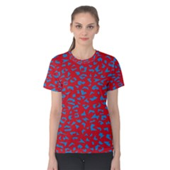 Blue Red Space Galaxy Women s Cotton Tee