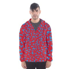 Blue Red Space Galaxy Hooded Wind Breaker (men)