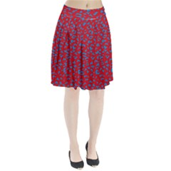Blue Red Space Galaxy Pleated Skirt