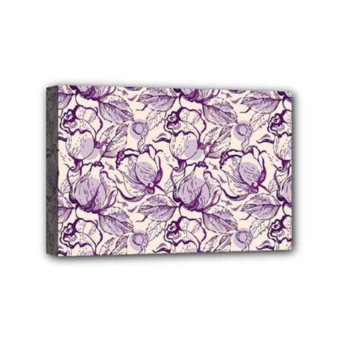Vegetable Cabbage Purple Flower Mini Canvas 6  X 4