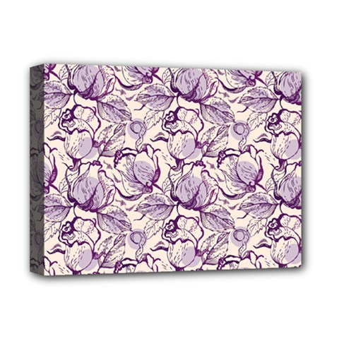 Vegetable Cabbage Purple Flower Deluxe Canvas 16  X 12