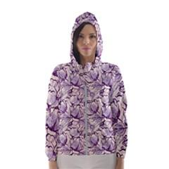 Vegetable Cabbage Purple Flower Hooded Wind Breaker (women)