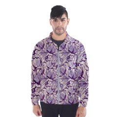 Vegetable Cabbage Purple Flower Wind Breaker (men)