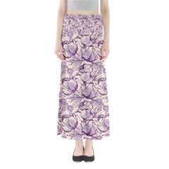 Vegetable Cabbage Purple Flower Full Length Maxi Skirt