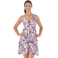 Vegetable Cabbage Purple Flower Show Some Back Chiffon Dress