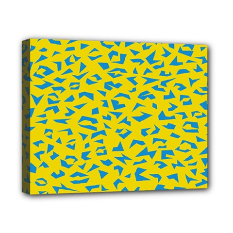 Blue Yellow Space Galaxy Canvas 10  X 8