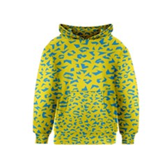 Blue Yellow Space Galaxy Kids  Pullover Hoodie