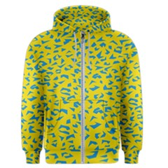 Blue Yellow Space Galaxy Men s Zipper Hoodie