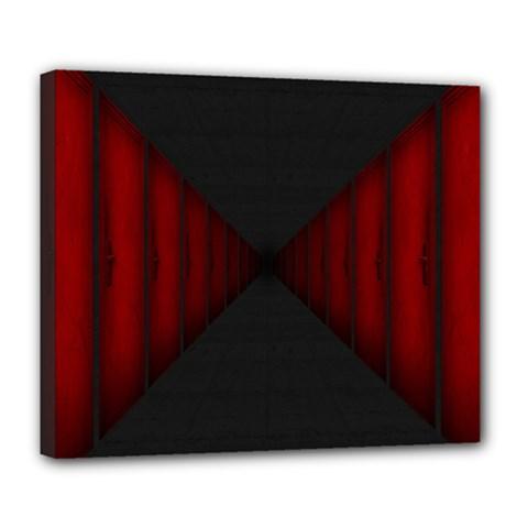 Black Red Door Deluxe Canvas 24  X 20