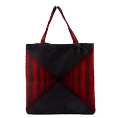 Black Red Door Grocery Tote Bag