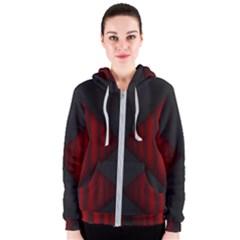 Black Red Door Women s Zipper Hoodie