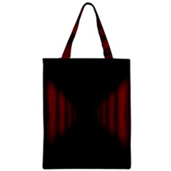 Black Red Door Zipper Classic Tote Bag