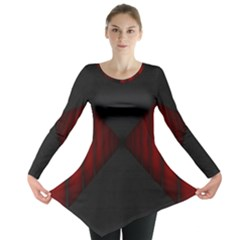 Black Red Door Long Sleeve Tunic