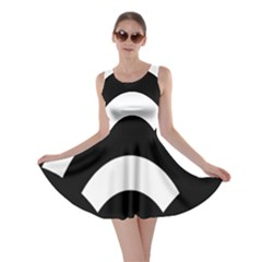 Circle White Black Skater Dress