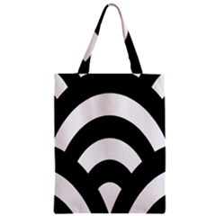 Circle White Black Classic Tote Bag