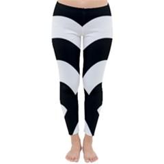 Circle White Black Classic Winter Leggings