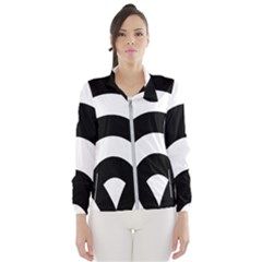 Circle White Black Wind Breaker (women)