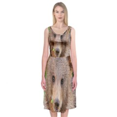 Baby Bear Animals Midi Sleeveless Dress