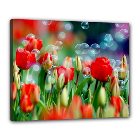 Colorful Flowers Canvas 20  X 16