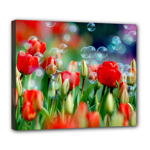 Colorful Flowers Deluxe Canvas 24  X 20