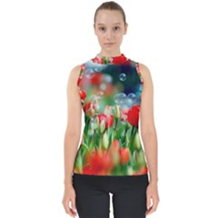 Colorful Flowers Shell Top