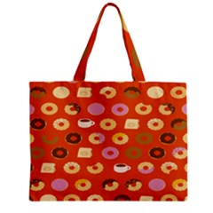Coffee Donut Cakes Zipper Mini Tote Bag