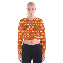 Coffee Donut Cakes Cropped Sweatshirt