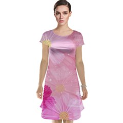 Cosmos Flower Floral Sunflower Star Pink Frame Cap Sleeve Nightdress