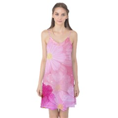 Cosmos Flower Floral Sunflower Star Pink Frame Camis Nightgown