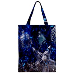 Christmas Silver Blue Star Ball Happy Kids Zipper Classic Tote Bag