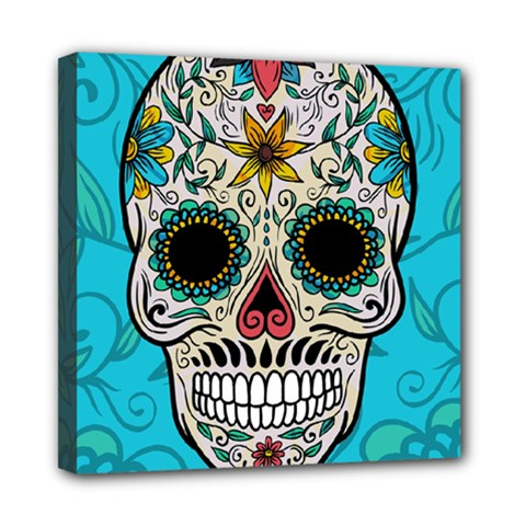 Sugar Skull New 2015 Mini Canvas 8  X 8