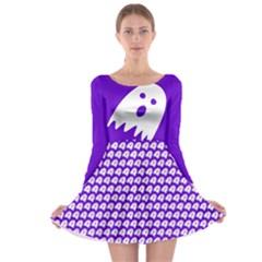 Ghost Long Sleeve Skater Dress