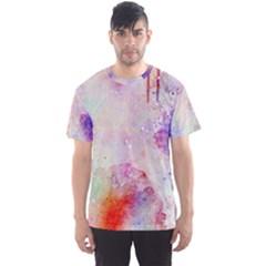Watercolor Galaxy Purple Pattern Men s Sports Mesh Tee