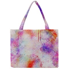 Watercolor Galaxy Purple Pattern Mini Tote Bag