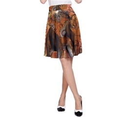 Steampunk, Steampunk Elephant With Clocks And Gears A Line Skirt