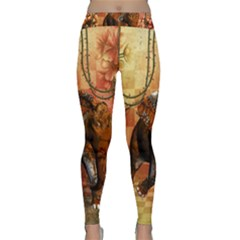 Steampunk, Steampunk Elephant With Clocks And Gears Classic Yoga Leggings