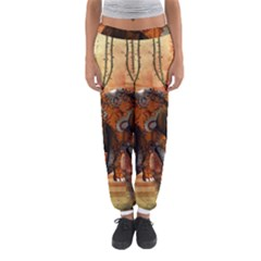 Steampunk, Steampunk Elephant With Clocks And Gears Women s Jogger Sweatpants