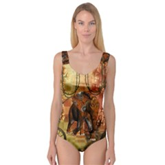 Steampunk, Steampunk Elephant With Clocks And Gears Princess Tank Leotard