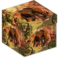 Steampunk, Steampunk Elephant With Clocks And Gears Storage Stool 12