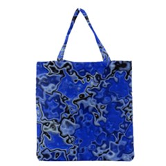 Wet Plastic, Blue Grocery Tote Bag