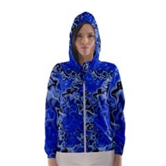 Wet Plastic, Blue Hooded Wind Breaker (women)