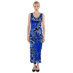 Wet Plastic, Blue Fitted Maxi Dress