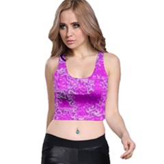 Wet Plastic, Pink Racer Back Crop Top