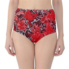 Wet Plastic, Red High Waist Bikini Bottoms