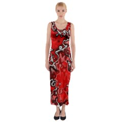 Wet Plastic, Red Fitted Maxi Dress