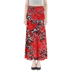 Wet Plastic, Red Full Length Maxi Skirt