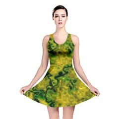 Wet Plastic, Yellow Reversible Skater Dress