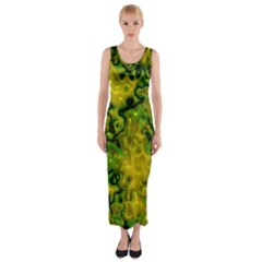 Wet Plastic, Yellow Fitted Maxi Dress