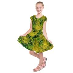 Wet Plastic, Yellow Kids  Short Sleeve Dress